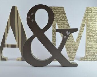 Wooden initials