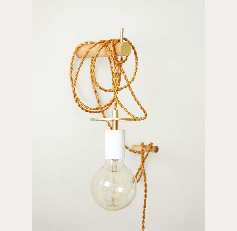 Pendant Light Brass Wall Lighting Edison Bulb Adjustable