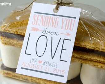 Smore Tags - Smore Wedding Favor Tags - Printable S'more Love Tag - Seding You Smore Love - PDF - DIY - AA4