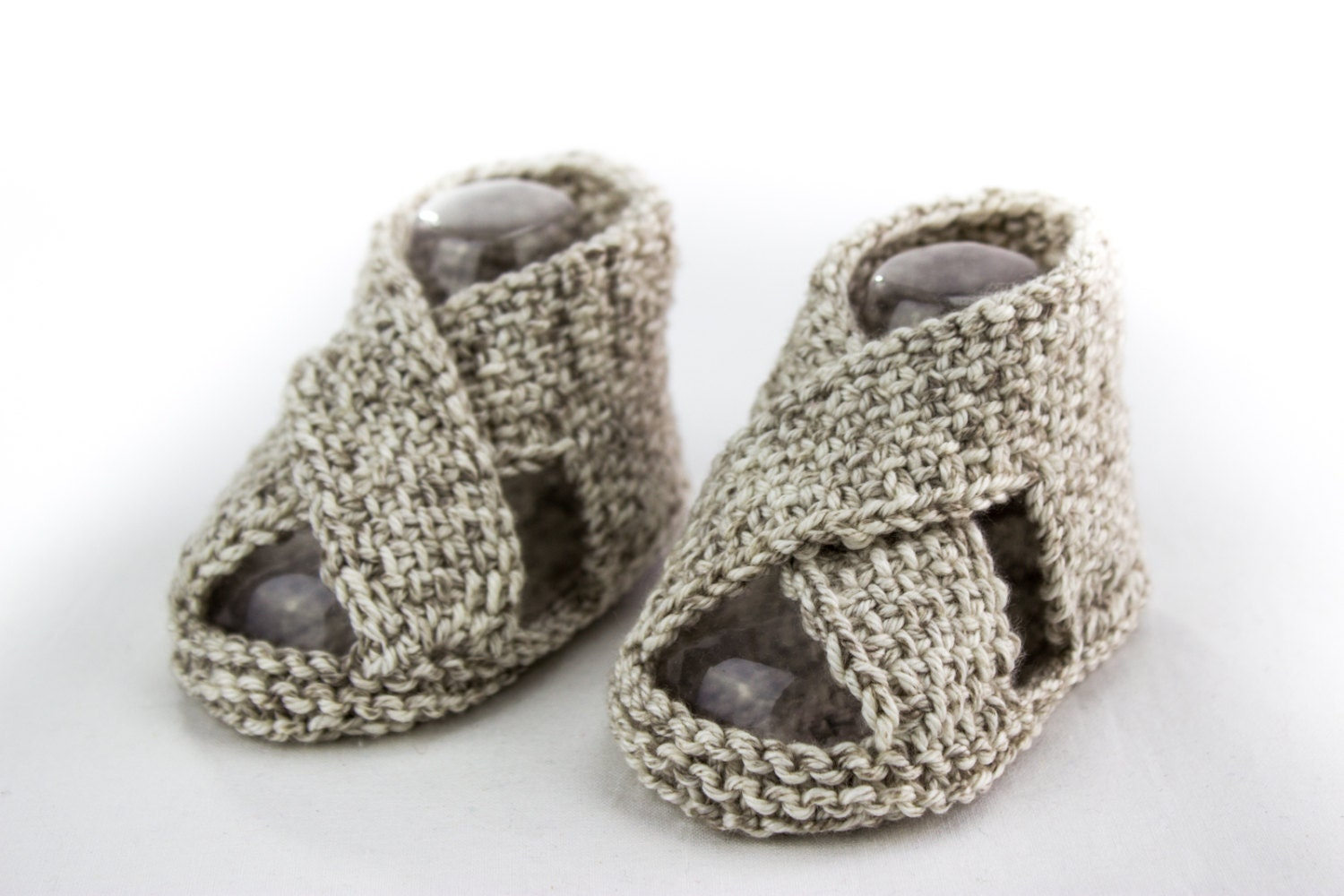 Free Knitting Patterns For Baby Sandals : KNITTING PATTERN Baby Boy Sandal Pattern Cross Over Sandal