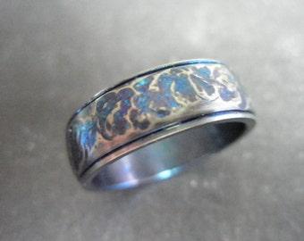 Textured titanium ring