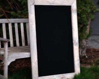 "Large Rustic Chalkboard 44x28"" , Rustic Chalkboard, Large Chalkboard, Reclaimed Wood, Framed Chalkboard, Wood Frame, Rustic Home Decor"