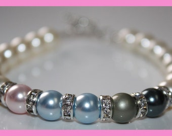 Mother's or Grandmother's Swarovski Pearl Bracelet