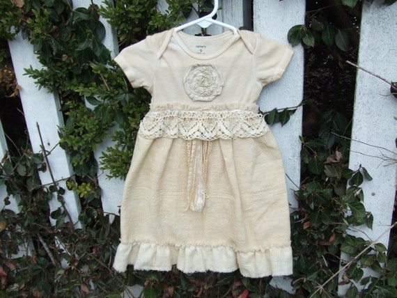 Shabby chic baby girl outfit size 9 months by bygonelizzylane - Shabby chic outfit ideas ...