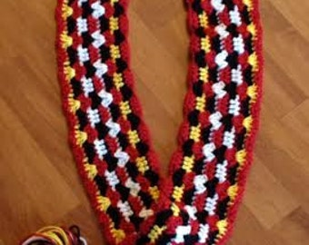 Hidden Mickey Mouse Disneyland Scarf Crochet Handmade