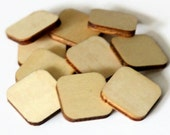 10 Blank Scrabble Tiles - 30mm x 30mm - Wooden Square Shapes - Natural Wooden Tiles - Die Cut Out Shape - MDF Craft Blanks - OC126