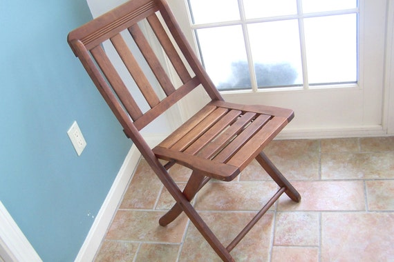 vintage wood folding chair vintage furniture wooden foldable