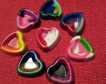 100 Heart Shaped Multi Color Crayons