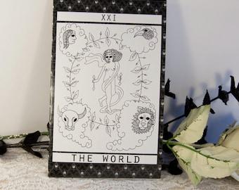 Tarot Series Notebook: The World