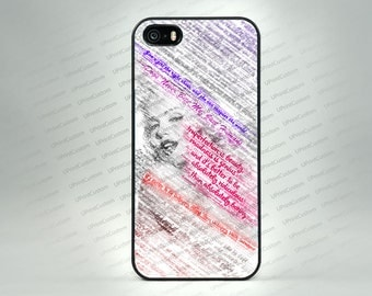 Marilyn Monroe Quotes Case iPhone 7, iPhone 7 PLUS, iPhone 6S, iPhone 6S Plus, iPhone 5S, SE, Note 7, Galaxy S7, S7 Edge, Galaxy S6, S6 EDGE