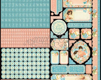 Graphic 45 Precious Memories Collection 12 X 12 Sticker Sheet