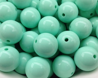 20mm Spearmint Green Chunky Necklace Beads