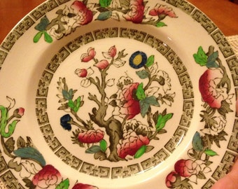 Nice Vintage Handpainted Johnson Brothers Indian Tree Bread and Butter Plates