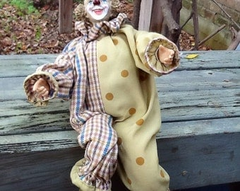 Vintage Happy French Clown
