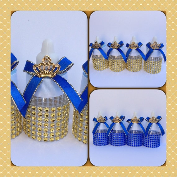 blue baby shower favors little prince baby bottles prince favors
