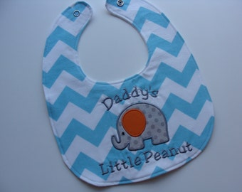 Personalized Baby Bib With Your Custom Message In Choice