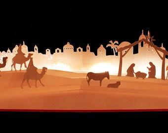 3D SVG Pop up Layered card 'Nativity' scene