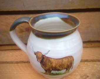 Mug with Highland Coo and Trim