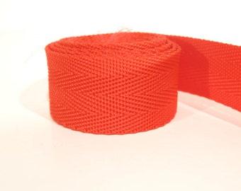 3 yards of 1 inch / 25mm red webbing, strap (WB5)