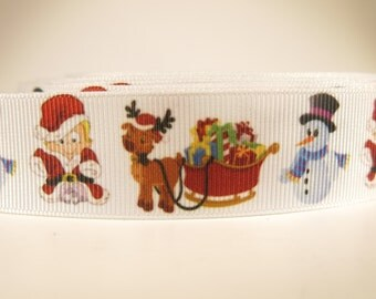 "5 yards of 1 inch ""christmas"" grosgrain ribbon"