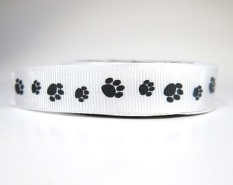 """5 yard of 5/8 inch """"dog paw"""" grosgrain ribbon"""