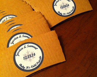 Personalized Coffee Cup Sleeves Circle/No Scallops