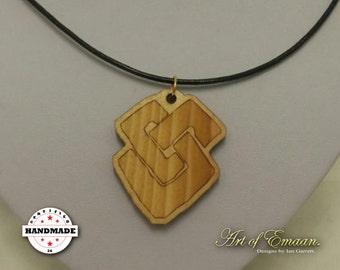 Geometric/ Celtic Knot Inspired Pendant Laser Cut/ Engraved on Pine Wood.