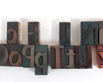 "2"" Letterpress Wood Block Letters, sold separately"