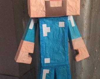 Pinata mine craft hand made ,