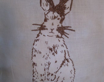 Jackelope embroidered pillow is 14x12 inches