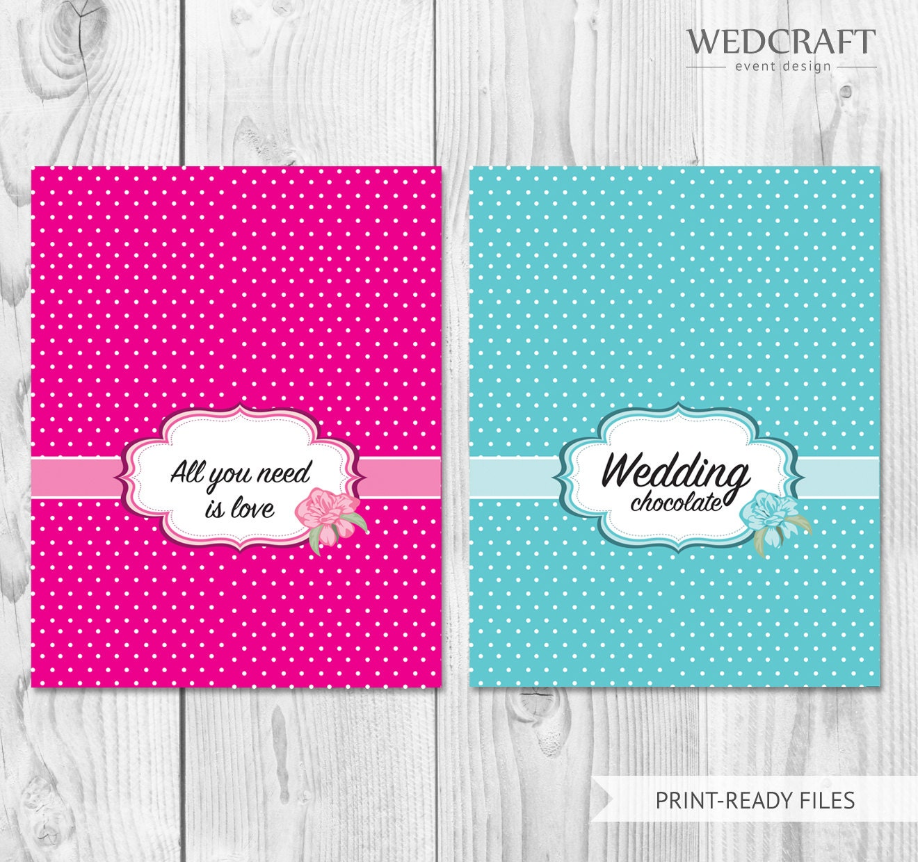 Wedding Candy Bar Wrapper Template by WedCraftAccessories on Etsy