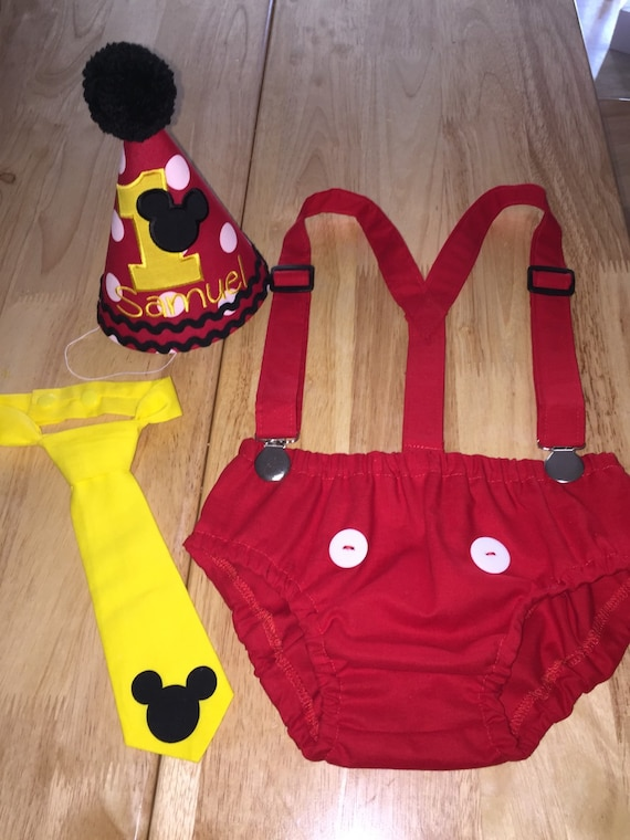 mickey mouse smash cake outfit cake smash mickey mouse personalized hat 5889