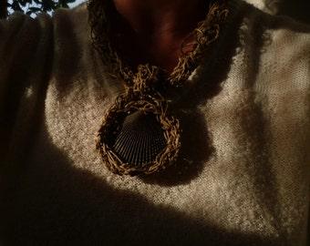 Mediterranean style, eco friendly necklace