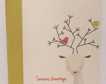 Christmas Card - Deer Card - Reindeer Card Set of 10