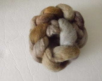 Handpainted BFL roving for spinning or felting