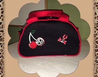 Cherry Skulls Vintage inspired handmade handbag