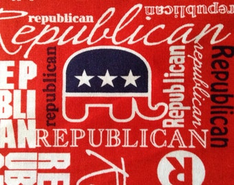 Two Remnants of Fabric - Republican