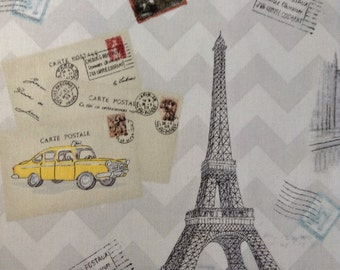 One Half Yard of Fabric Material - Bon Voyage Collage