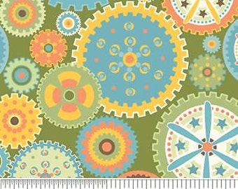 Riley Blake - Sheri Berry - Mod-Tod - Brown With Stars Cotton Fabric