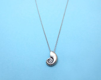 Ariel voice, Silver, Seashell, Necklace, Shell, Antique, Ariel, Jewelry, Birthday, Friendship, Best friends, Sister, Gift, Jewelry