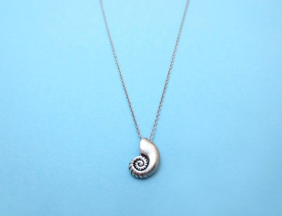 ariel voice silver seashell necklace shell antique