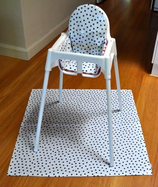 set coussin pour splash mat noir pois ikea antilop. Black Bedroom Furniture Sets. Home Design Ideas