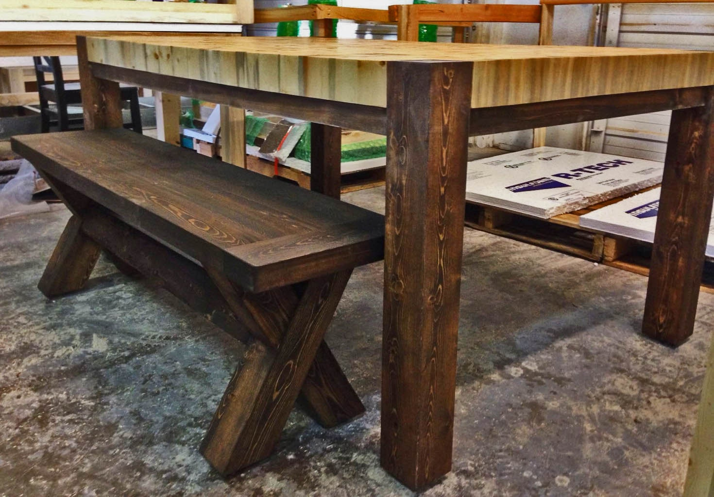 Butcher Block Kitchen Bench : Butcher Block Dining Table Large End Grain by ColoradoTablesLLC