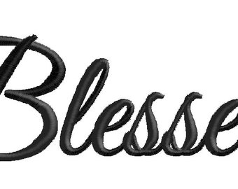 Blessed Embroidery Design