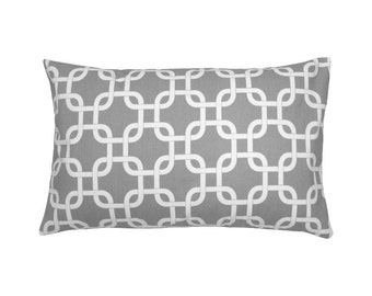 Pillowcase chain pattern GOTCHA 30 x 50 cm grey white
