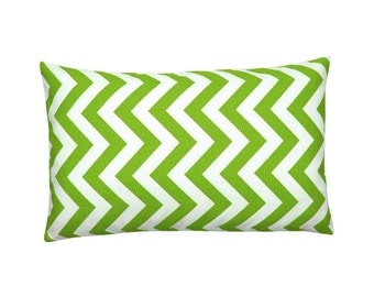 Pillowcase CHEVRON green white stripe zigzag graphically 30 x 50 cm