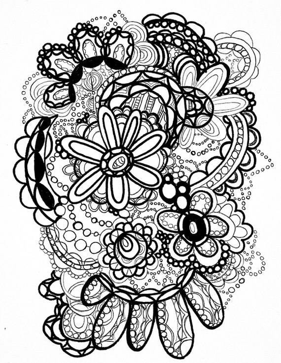 flower power coloring pages - photo#26