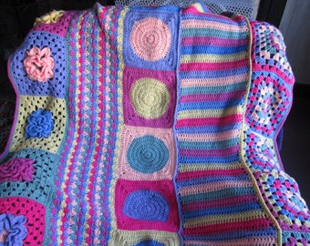Large crochet Groovyghan/throw