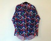 Vintage Southwestern Wrangler Button Up Shirt L