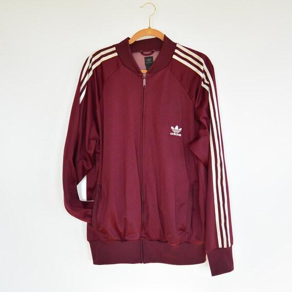 adidas burgundy jacket